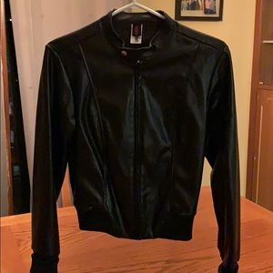 Womans black short coat